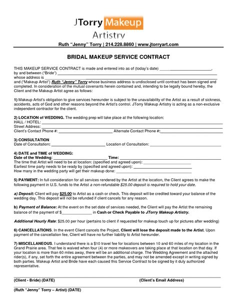 Professional Organizer Contract Template by Professional Organizer Contract Template Image