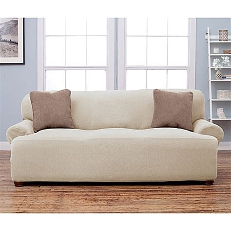 Sofa Arm Covers Bed Bath And Beyond by Stretch Fit Popcorn Texture Protective Sofa Slipcover