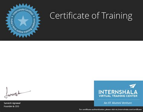 certification courses android internshala vtc
