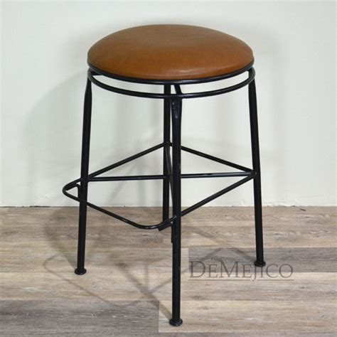 vintage counter stool grey leather 65878 backless iron swivel counter stool swivel 9580