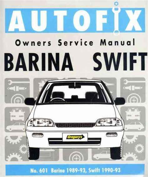 motor repair manual 1994 suzuki swift navigation system suzuki swift holden barina 1989 1993 autofix owners service manual 0855667222 9780855667221