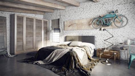 tapisserie chambre à coucher adulte 35 lofts industriels créés avec un logiciel de rendu 3d