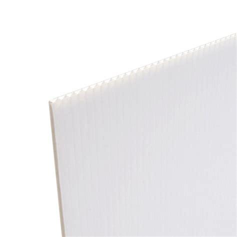 Coroplast 48 In X 96 In X 0157 In White Corrugated