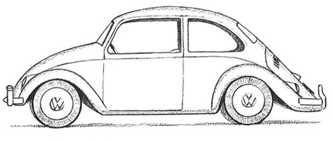 draw  volkswagen beetle punch buggy  easy