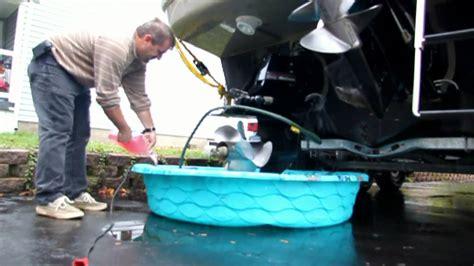Sea Ray Boat Winterize by Winterizing Searay 290 Sundancer Youtube