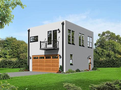 a washer and dryer in one modern cube shaped house plan 68472vr architectural