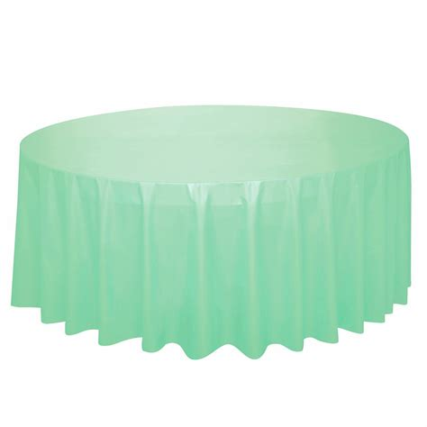 round plastic table covers mint plastic table cover round