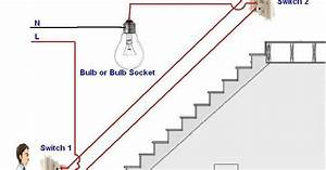 Two Way Light Switch Diagram Or Staircase Lighting Wiring