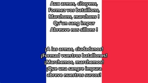 Testo Inno Nazionale Francese Himno Nacional De Francia La Marsellesa Fr Es Lyrics