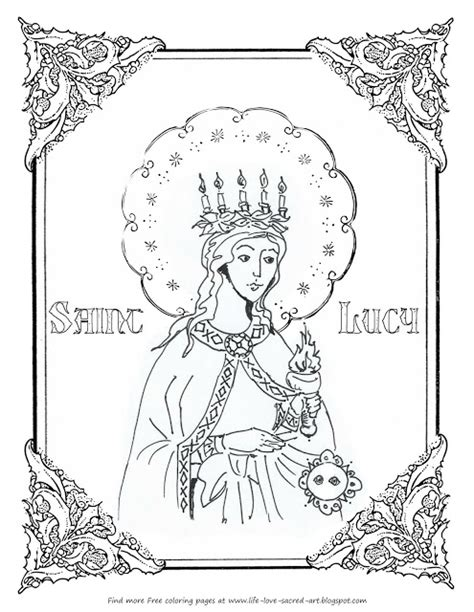 St Lucia Coloring Pages Beautiful Our Lady Of Fatima Coloring Page