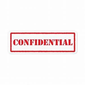 Confidential red stamp label   Zazzle