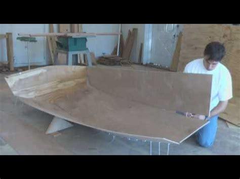 pk sailing dinghy construction vid  hull assembly