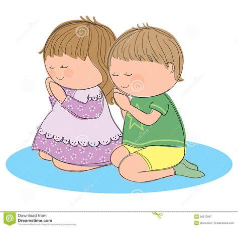 child praying clipart praying children stock vector illustration of