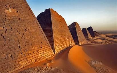 Sudan Bing Pyramids Desktop Meroe 4k Past