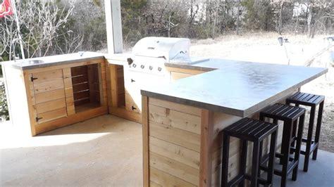 diy modern outdoor kitchen  bar modern builds ep