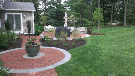 brick backyard paver walkways archives garden design inc