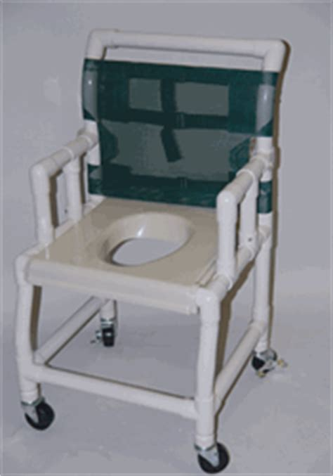 healthline pvc shower commode chair 18 quot vacuum seat with
