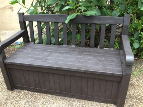 garden storage keter garden storage bench