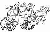 Carriage Coloring Pumpkin Princess Cinderella Pages Template sketch template
