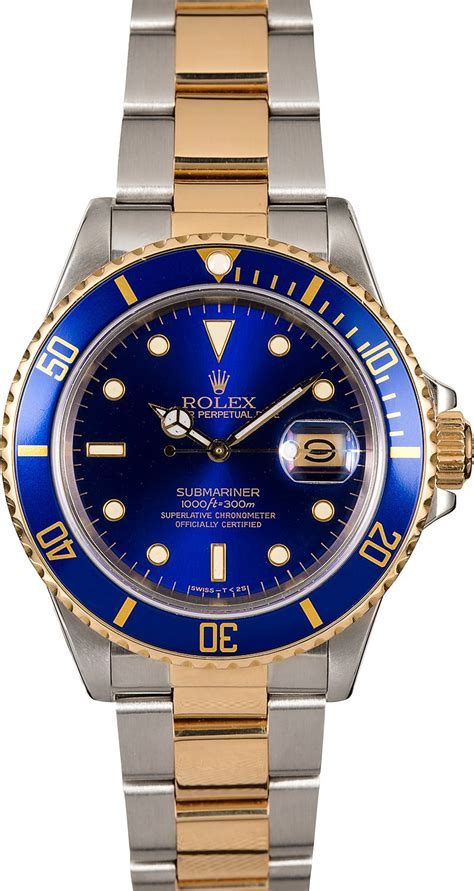 Rolex Submariner 16803 Blue Men's Watch