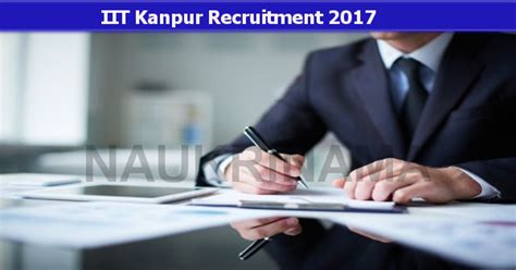 Iit Kanpur Assistant Project Manager Jobs 2017- Naukri Nama