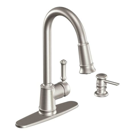 kitchen faucet with pull sprayer moen lindley single handle pull sprayer kitchen