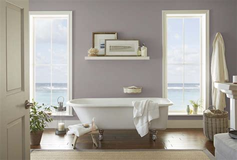 Home Depot Paint Colors For Bathrooms by Behr Color Trends 2018 Color Sle T18 03 Graylac Paint