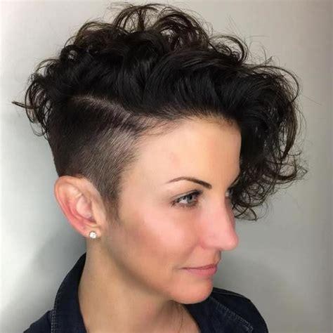 the newest 2018 undercut hair design for girls pixie