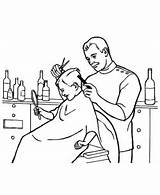 Barber Clipart Colouring Similar sketch template