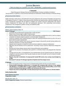 resume information technology manager information technology resume exles
