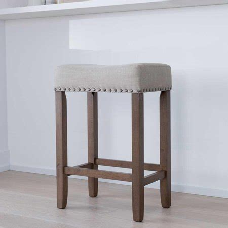 Upholstered Kitchen Counter Stools by Hylie Wood Kitchen Counter Stool 24 Quot Pale Beige