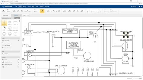 How Draw Electrical Diagrams With Smartdraw Youtube