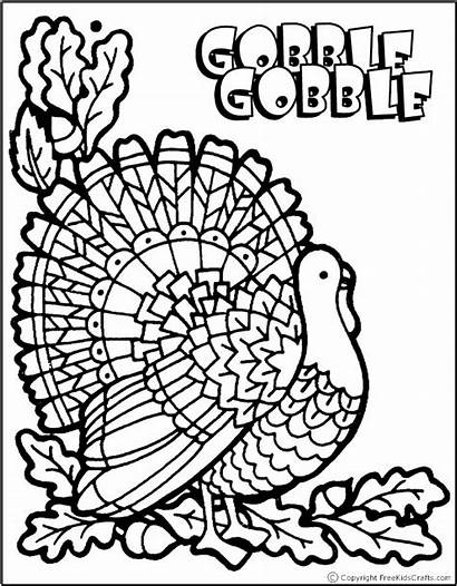 Coloring Thanksgiving Pages Printable Fall Turkey Crafts
