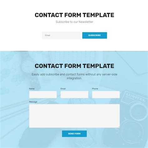 bootstrap contact form template image collections