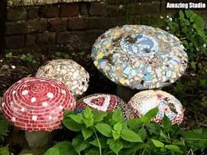 Mosaik Basteln Ideen : ehrf rchtiges mosaik pilz garten ideen youtube ~ Lizthompson.info Haus und Dekorationen