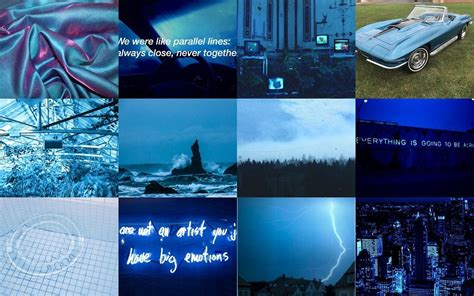 aesthetic blue  laptop wallpapers wallpaper cave