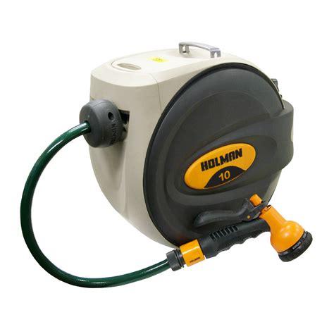 retractable garden hose retractable hose reel with gun holman industries