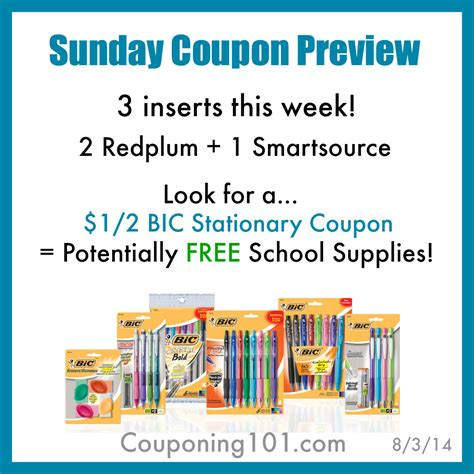 19933 Redplum Coupons Sunday Paper by Sunday Newspaper Coupon Insert Preview 8 3 Couponing 101