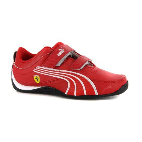 Ferrari puma shoes child drift cat 4 l sf nm white size 29*. Boys Puma Drift Cat 4 L Ferrari Red Strap Trainers | eBay