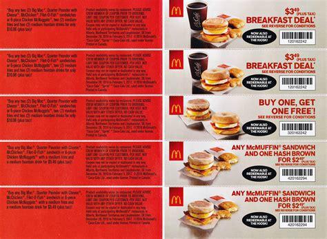 mcdonalds mailer coupons  january redflagdealscom