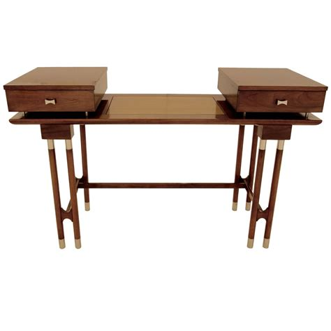 mid century writing desk mid century modern writing desk or vanity for sale at 1stdibs