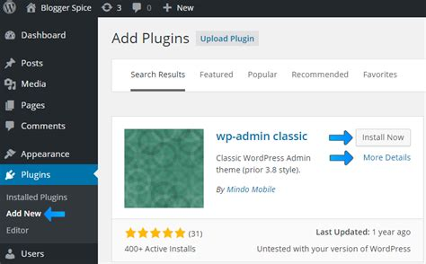 How To Restore The Old Wordpress Admin Panel