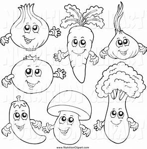 fruit and vegetable clipart black and white - Clipground
