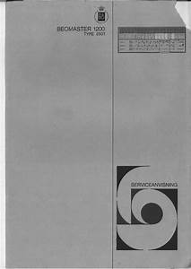 Bang  U0026 Olufsen Beomaster 1200 Type 2501   Service Manual