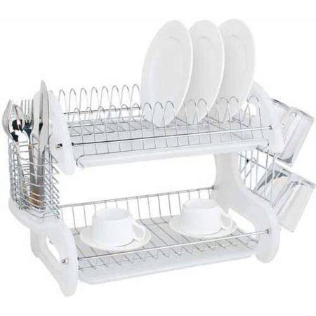 home basics 2 tier dish rack home basics dish drainer 2 tier plastic white walmart