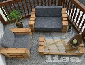Gartenmöbel Kleiner Balkon : lounge gartenm bel 2 sitzer palettenm bel terrasse ~ Lateststills.com Haus und Dekorationen