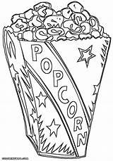 Popcorn Coloring sketch template