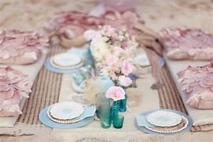 romantic beach wedding petal pink light blue turquoise ...