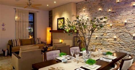 ambientes  paredes de piedras decoracion del hogar