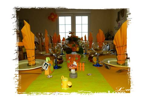 deco winnie l ourson anniversaire d 233 co de table sur le th 232 me de l automne et de winnie les broutilles de made line